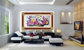 Treo tranh hoa mẫu đơn trong nhà cũng phải đúng hướng, ai còn độc thân sẽ sớm tìm được tình yêu