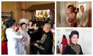 Hụt dự lễ cưới tại Mỹ, NSND Hồng Vân rạng rỡ trong đám cưới con gái ở Việt Nam