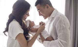 Vợ chồng Lương Thế Thành - Thuý Diễm 'đốn tim' khán giả khi khoe con trai kháu khỉnh