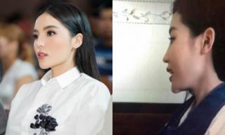 Luôn phủ nhận dao kéo, Hoa hậu Kỳ Duyên để lộ cằm nhọn bất thường trên sóng truyền hình
