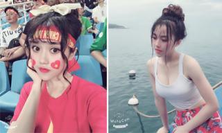 Nhan sắc xinh đẹp của fan nữ bị tố 'diễn sâu' trên khán đài trận U23 Việt Nam và U23 Uzbekistan
