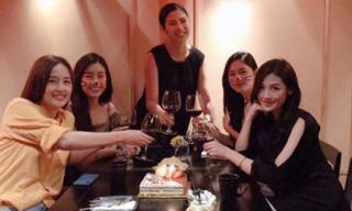 Sau tiệc sinh nhật với hội bạn toàn mĩ nhân, Mai Phương Thuý tiếp tục vui tuổi mới với hội bạn Hoa hậu