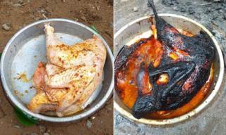 Về ra mắt nhà vợ tương lai, chàng trai trổ tài làm món 'gà nướng bóng đêm' khiến dân mạng phì cười