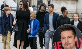 Mâu thuẫn chuyện tiền bạc, Brad Pitt sợ Angelina Jolie đưa các con sang Anh định cư
