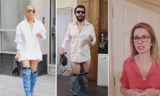 'Đua đòi' mặc quần tụt theo Jennifer Lopez, anh chồng nhận cái kết đắng ngay khi vợ nhìn thấy