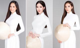 30 năm HHVN: Ngắm trọn bộ ảnh 13 nàng Hậu đọ sắc 'bất phân thắng bại' trong tà áo dài trắng