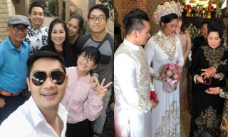 Vừa tổ chức đám cưới hoành tráng, vợ chồng NSND Hồng Vân đích thân đưa con gái đầu lòng về tận Mỹ làm dâu
