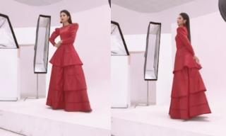 Hoa hậu Ngọc Hân khoe nhan sắc rạng rỡ trong hậu trường chụp ảnh