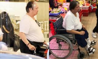 'Bố của em trai Phạm Băng Băng' chống gậy đưa vợ đi mua sắm giữa lúc 'tình cũ' gặp nạn