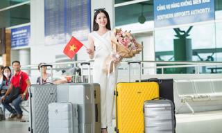 Hoa khôi Thuý Vi mang 145kg hành lí lên đường chinh chiến tại Miss Asia Pacific International