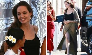 Lâu lắm rồi mới thấy Angelina Jolie ăn vận gợi cảm như thế này