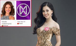 Trần Tiểu Vy chính thức xuất hiện trên trang chủ cuộc thi Hoa hậu Thế giới