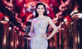 Là gương mặt dự đoán trở thành Hoa hậu, Trần Tiểu Vy chỉ toàn dùng đồ thuê váy mượn cho đêm chung kết