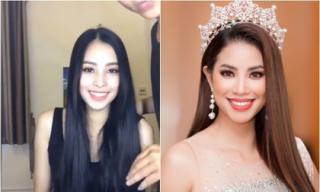 Hậu trường trước đêm đăng quang của Hoa hậu Trần Tiểu Vy, fan phát hiện có nét giống Phạm Hương