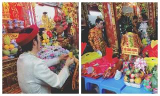 Mặc trời mưa, không khí ngày giỗ tổ nghề sân khấu trong nhà thờ tổ của NSƯT Hoài Linh vẫn rộn ràng