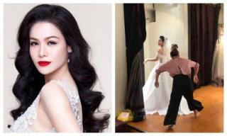 Dân mạng xôn xao trước hình ảnh Nhật Kim Anh đi thử váy cưới?