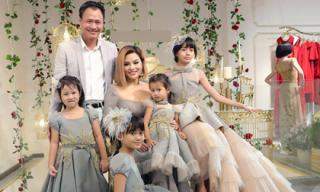 Lần đầu tiên, Vũ Thu Phương đưa 2 con riêng của chồng đi sự kiện