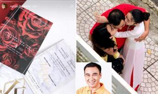 Tin sao Việt 21/9/2018: Huyền My nhận thiệp cưới, gửi lời chúc đến Lan Khuê, Quyền Linh bị vợ chụp lén khoảnh khắc tình cảm cùng hai con