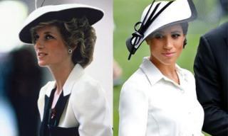 Công nương Meghan Markle nhiều lần 'copy' phong cách thời trang huyền thoại của mẹ chồng Diana