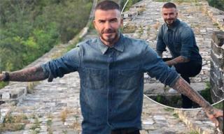 David Beckham lần đầu đặt chân đến Vạn Lý Trường Thành, gọi đây là khoảnh khắc may mắn nhất cuộc đời