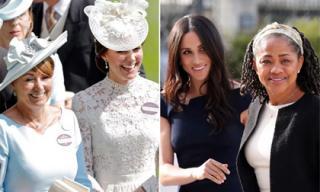 Hai bà mẹ của Công nương Kate và Công nương Meghan Markle đã bước chân vào gia đình Hoàng gia như thế nào?