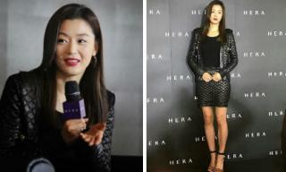 """Nhan sắc """"nữ thần"""", phong cách sang chảnh nhưng Jeon Ji Hyun lại lộ đôi chân gầy gò, gân guốc"""