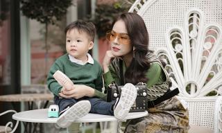 Dương Cẩm Lynh cùng con trai chụp bộ ảnh nhân dịp sinh nhật bé tròn hai tuổi