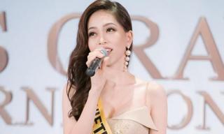 Phương Nga tự tin khoe giọng hát tại Miss Grand International 2018