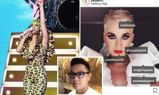 Katy Perry tiếp tục đặt một bộ trang phục của NTK Công Trí y chang bộ cũ chỉ khác màu