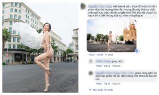 Tung bộ ảnh cưới 'thiếu vải', Sĩ Thanh bị dân mạng chỉ trích nặng nề