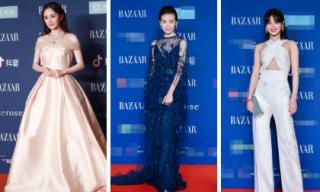 """Dương Mịch như công chúa đọ dáng với dàn sao """"Như Ý Truyện"""" trên thảm đỏ đêm từ thiện Bazaar 2018"""