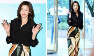 Giữa thông tin tái xuất màn ảnh, Jeon Ji Hyun xuất hiện sang chảnh với đầm xẻ giữa