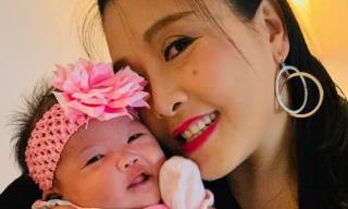 Sau thời gian mất tích, danh hài Kiều Oanh bất ngờ mừng đầy tháng con gái cưng
