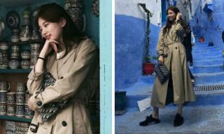 Suzy cũng mê mốt giày thể thao đạp gót giống G-Dragon và nhiều sao Hàn