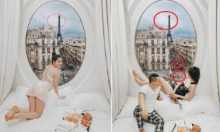 Vũ Khắc Tiệp tung bằng chứng khi bị cho là cùng Ngọc Trinh ghép cảnh ở Paris để 'sống ảo'