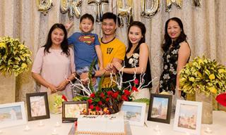 Bảo Thanh bất ngờ được tổ chức sinh nhật sớm cùng gia đình