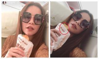 Vừa khoe 'ăn nát bánh mì vẫn chưa trôi son phấn', Hà Hồ bị dân mạng bóc ngay điểm sai