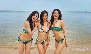 Bộ ba Phanh Lee - Huyền Lizzie - Thu Hoài khoe thân hình đẹp từng centimet với bikini