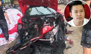 Siêu xe Ferrari 16 tỉ của Tuấn Hưng gặp tai nạn ở Phú Thọ