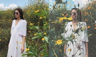 Tăng Thanh Hà khoe nhan sắc đẹp hơn hoa khi đi du lịch ở Đà Lạt