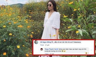 Tăng Thanh Hà phản ứng bất ngờ khi bị bàn tán 'có em bé' do diện váy quá rộng