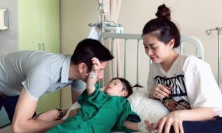 Con gái 2 tuổi của Diễm Trang phải nhập viện phẫu thuật dị tật dính thắng lưỡi
