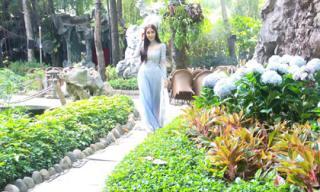 'Nữ hoàng drama Thái' Pinky Savika bất ngờ có mặt ở Việt Nam, diện ái dài cực dịu dàng