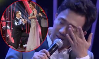 Trấn Thành nghẹn ngào khi chứng kiến màn cầu hôn bất ngờ của bạn trai nữ ca sĩ 'vừa ăn vừa hát'
