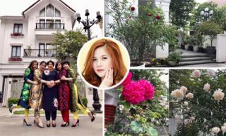 Mê mẩn khu vườn ngập tràn sắc hoa trong ngôi nhà của ca sĩ Mỹ Dung