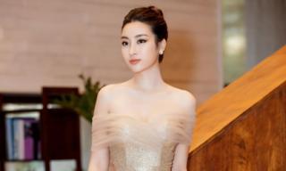 Hoa hậu Mỹ Linh khoe sắc vóc ngọc ngà tại sự kiện