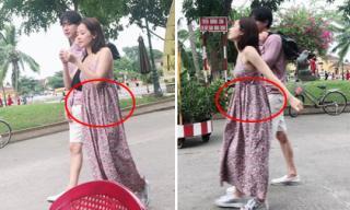 Đi chơi cùng bạn trai tin đồn, Chi Pu bị nghi ngờ đang mang bầu vì vòng hai lớn bất thường