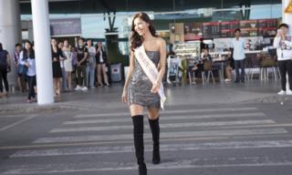 Minh Tú rạng rỡ lên đường 'chinh chiến' Miss Supranational 2018