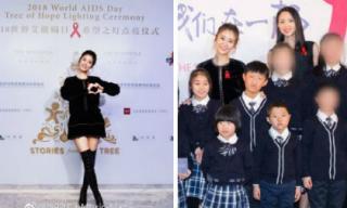 Chân dài miên man là vậy nhưng Lâm Tâm Như bị 'dìm hàng' thê thảm khi đứng cạnh Hoa hậu thế giới Trương Tử Lâm