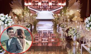 Đám cưới Ưng Hoàng Phúc: Không gian tiệc cưới phủ màu trắng lộng lẫy như cổ tích